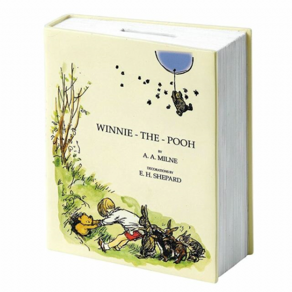 Winnie The Pooh 90th Anniversary Book Shaped Money Bank. A27729